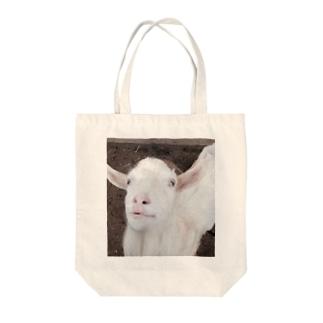 アヒル口の山羊 Tote bags