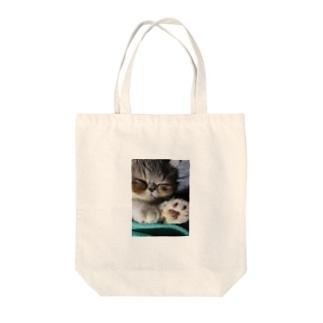 ひとにゃすみ Tote bags