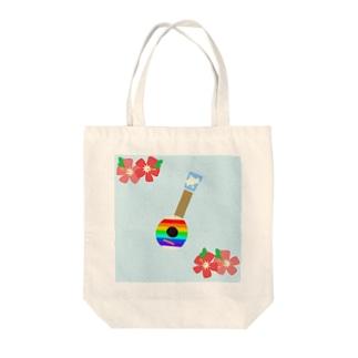 ウクレレ Tote bags