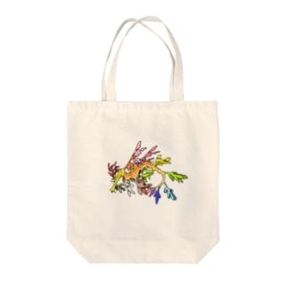 タツノオトシゴ Tote bags