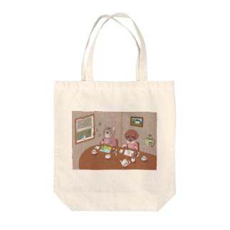 お絵描き Tote bags