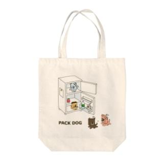 ⁽˙³˙⁾はとり⁽˙³˙⁾のPACK DOG Tote bags