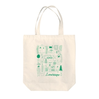life landscape Tote bags