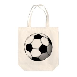 サッカーボール Tote bags