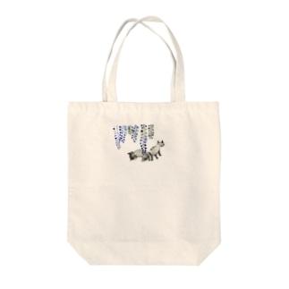ふじねこ Tote bags