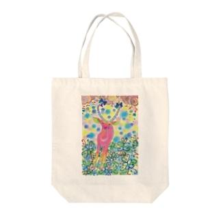 シカ Tote bags