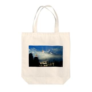 天使ちゃんの集い Tote bags