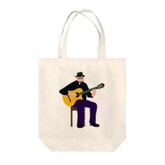 musician abe-san Tote bags