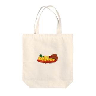 seNepロゴシリーズ Tote bags