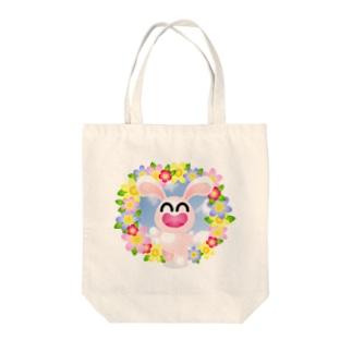 花うさぎ Tote bags