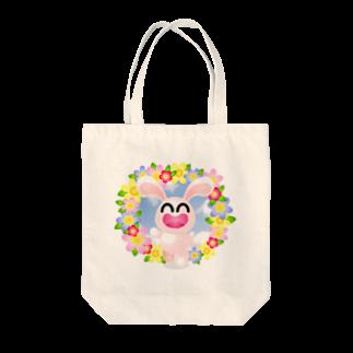 まるちの花うさぎ Tote bags