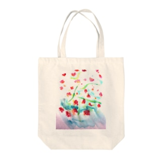 にじみ_お花 Tote bags