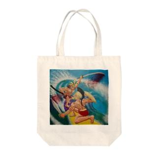 SAMURAI vs SPARTA Tote bags