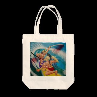 猫村哲のSAMURAI vs SPARTA Tote bags
