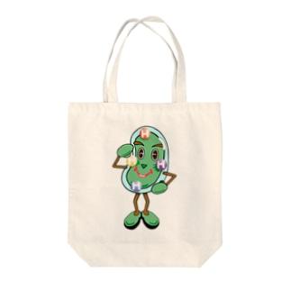 石田 汲のクロレラマニエラ Tote bags