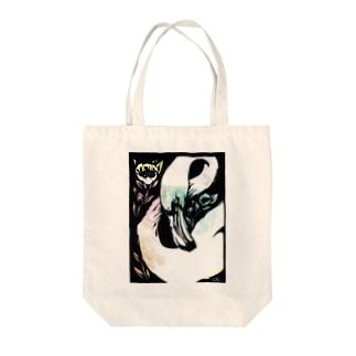 フラミンゴ(青桃) Tote bags