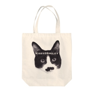 Kissy SmileyのKissy@Smiley 髭ニャンコ Tote bags