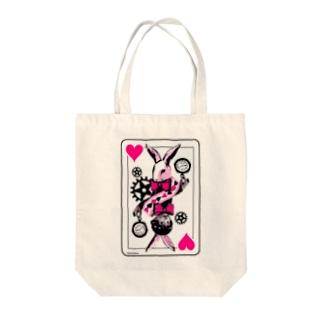 不思議の国のシロウサギ Tote bags