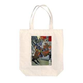 月岡芳年 羅城門渡辺綱鬼腕斬之図 鬼を見上げる渡辺綱【浮世絵・武将】  Tote bags