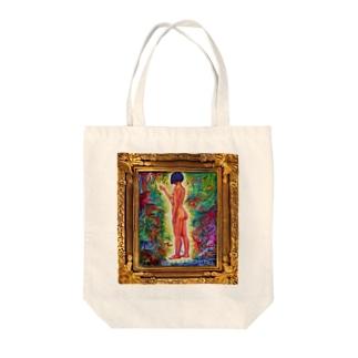 ラフな感じの裸婦 Tote bags