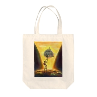 梯子の少年 Tote bags