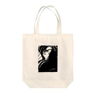 黒の女神(和装) Tote bags