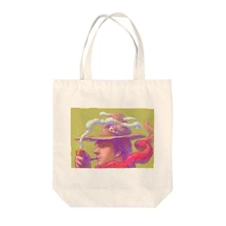 パイプの男 Tote bags