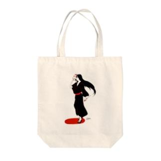 狐面タナトス Tote bags