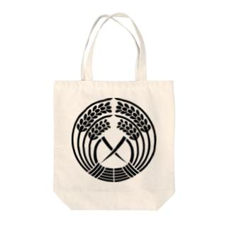 日本の家紋 抱き稲 Tote bags