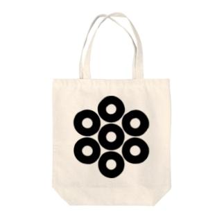 家紋 七つ蛇の目 Tote bags