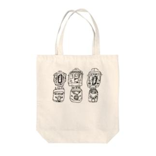 電車の顔 Tote bags
