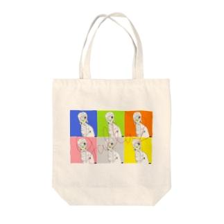 カラフル Tote bags