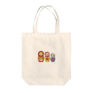 マトリョーシカちゃん Tote bags
