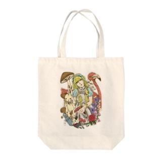 不思議の国のアリス‐手描き風Vrカラー Tote bags