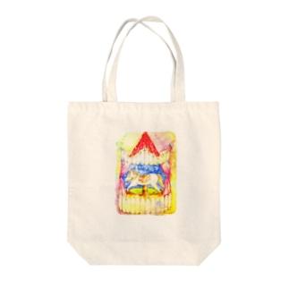 メリーゴーランド Tote bags