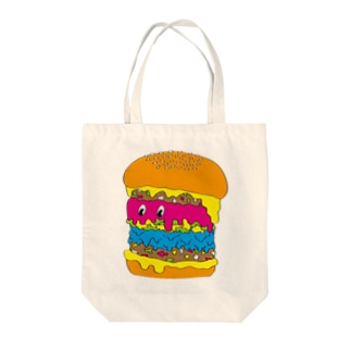 Delicious Burger Tote bags