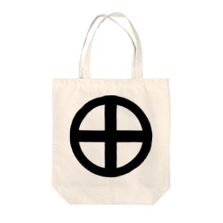 日本の家紋 轡 Tote bags