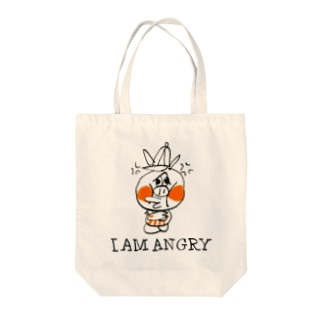 ANGRY PIG Tote bags