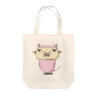 威嚇するネコさん Tote bags