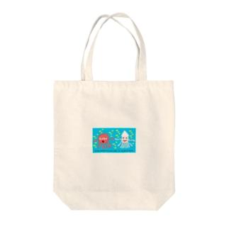 タコくら君とイカくら君 Tote bags