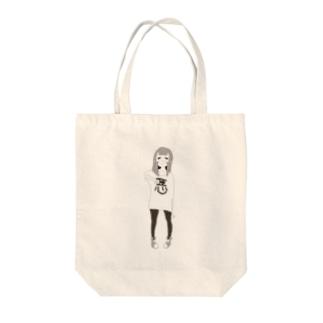 ワルイオトモダチ女の子mono Tote bags