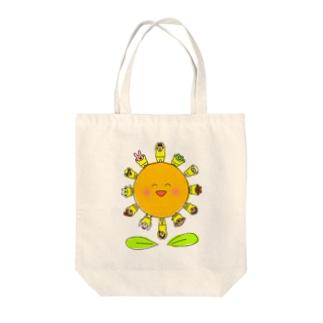 ひまわりフレンズ Tote bags