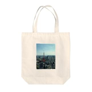 東京tower Tote bags