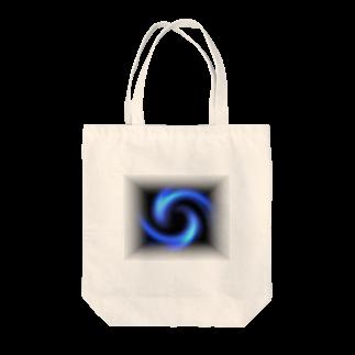 宇宙の贈りもの★YasueUenishiの電磁波カット/宇宙効果SpaceArt「瞑想エンブレム」トートバッグ