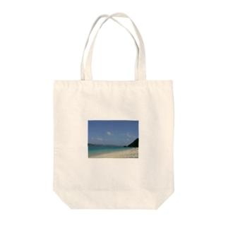 阿嘉島のビーチ Tote bags