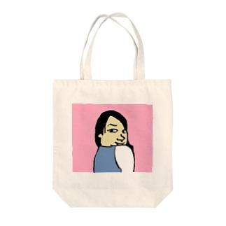 見返りブス Tote bags