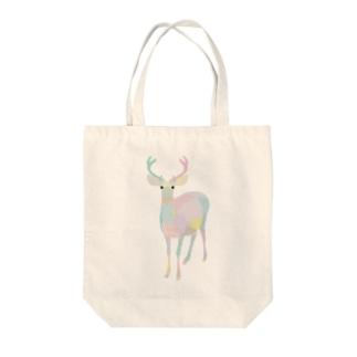 シカ(パステルカラー) Tote bags
