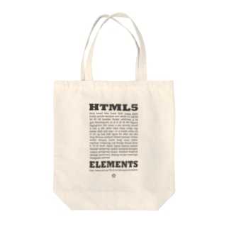 HTML5 プリント Tote bags
