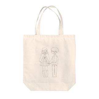 マスクカップル Tote bags