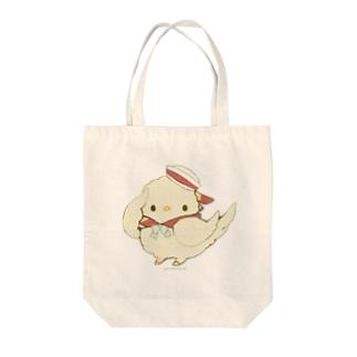 けいれい!(・◇・)ぴよ!(あか) Tote bags